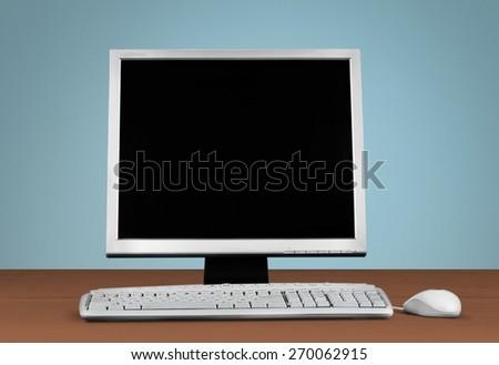 Computer. Digital world - stock photo