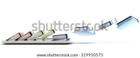 computer (documents folder - stock photo