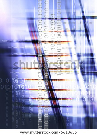 Computer download background - stock photo