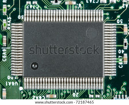 Computer electronic chip. Use for background or texture - stock photo