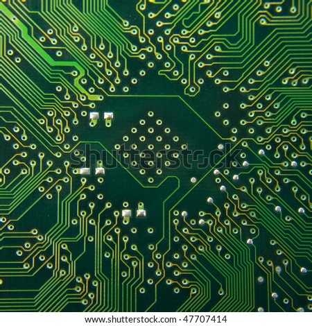 Computer electronic circuit - stock photo