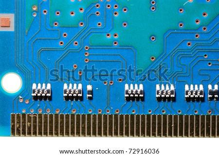 Computer electronic circuit. - stock photo