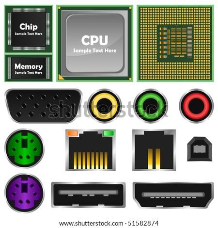 computer element - stock photo