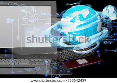 Computer engineering technology. - stock photo