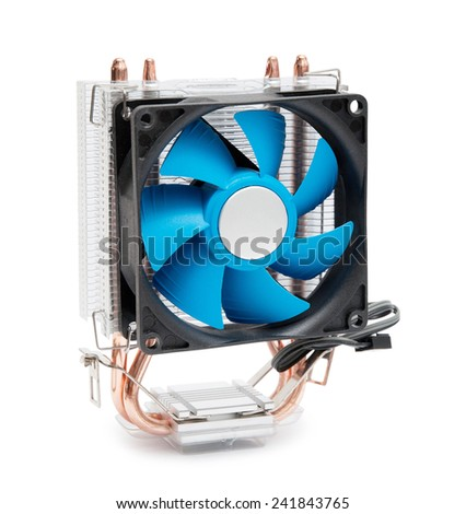 Computer fan. Isolated on a white background - stock photo