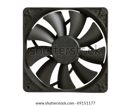 Computer fan isolated on a white background - stock photo