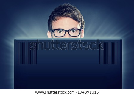 Computer Freak - stock photo