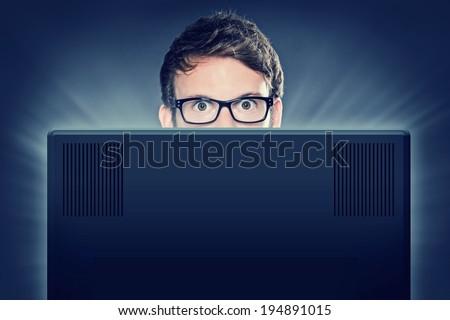 Computer Freak - stock photo