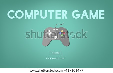 Computer Game Electronic Strategy Solution Sports Concept - stock photo
