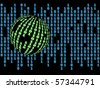 Computer generated binary code illustration - stock vector
