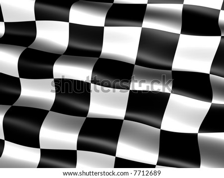 computer generated chequered end-of-race flag with silky appearance and waves