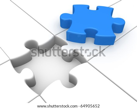 Computer Generated 3D Image  - Solution . - stock photo