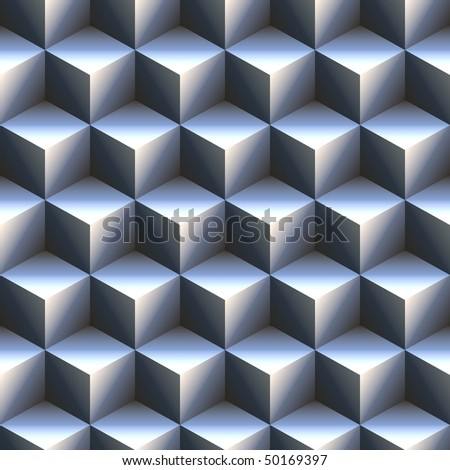 computer generated 3d staircase of blue and white cubes. tiles seamlessly - stock photo