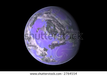 Computer generated Earth-like Planet