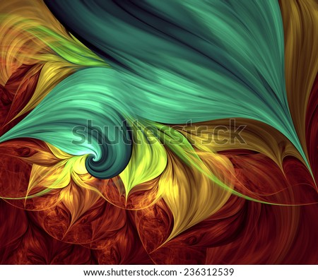 Computer generated fractal artwork for creative design, art and entertainment - stock photo