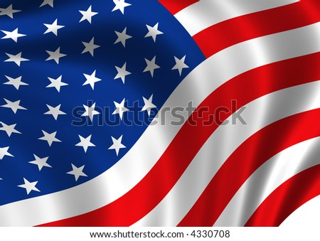 Computer generated high resolution United States of America flag. - stock photo