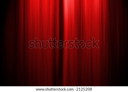 Computer generated illustration of a theater stage curtain