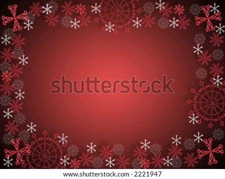 computer generated illustration of snowflakes background