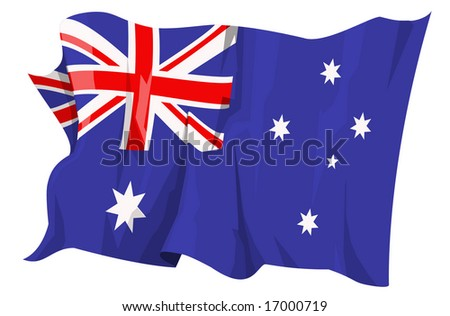 Computer generated illustration of the flag of Australia