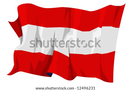 Computer generated illustration of the flag of Austria