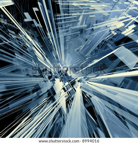 Computer generated image - Abstract Design . - stock photo