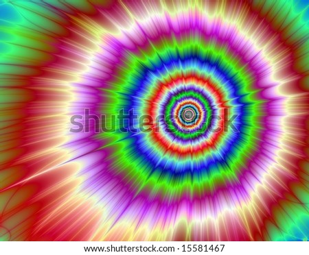 Computer generated image in a exploding colors design.