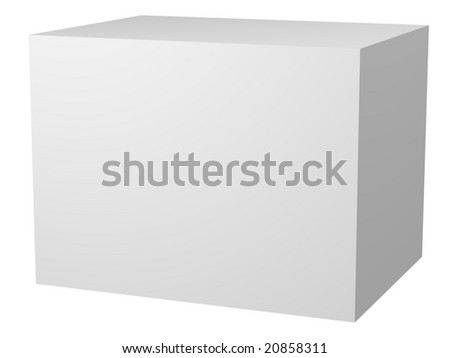 Computer generated image of a 3D blank white rectangle.  Customize this to make it your own. - stock photo