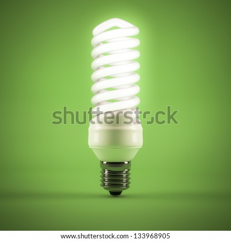 computer generated image of a Fluorescent lamp - stock photo