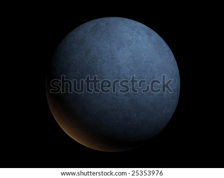 Computer generated image of a planet isolated on black - stock photo