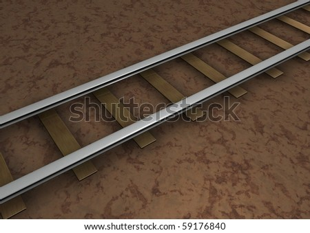 Computer Generated Rail Track for background