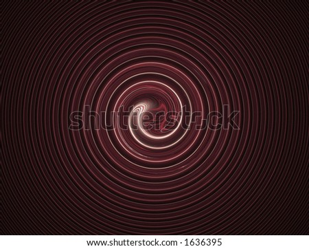Computer generated red fractal infinite swirl - stock photo