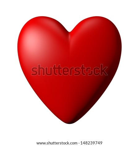Computer generated red heart