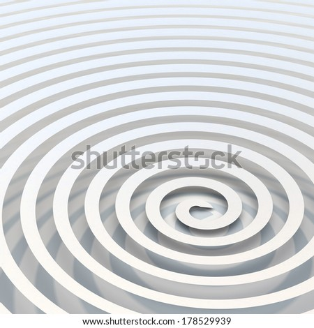 Computer generated spiral ribbon over a bright white background - stock photo