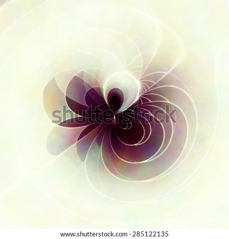 Computer generated violet flower - stock photo