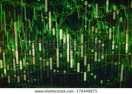 Computer green abstract visualisation future background. - stock photo