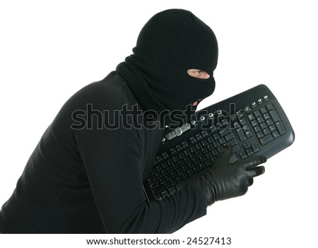 Computer hacker - criminal with the keyboard