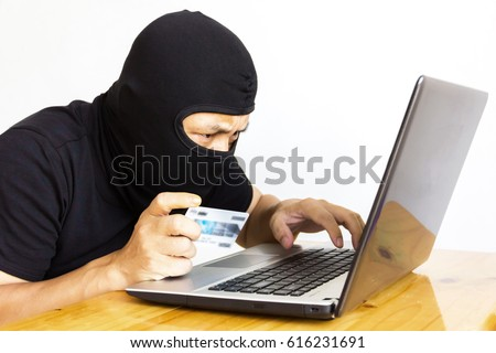 Computer hacker on white background.