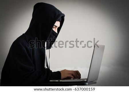 Computer hacker or Cyber attack, unsecured network concept.