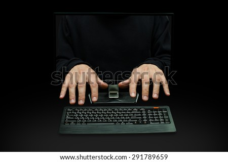 computer hacking - stock photo