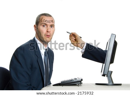 computer hand drawing on man in suit