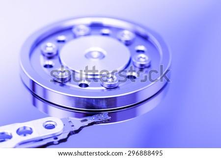Computer Hard Disk Drive Internals - stock photo