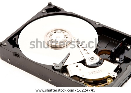 computer hard disk drive studio isolated