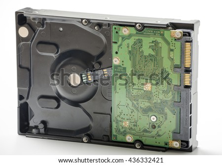 Computer Hard drive - stock photo