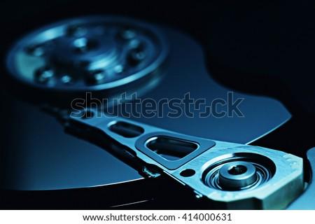 Computer hard drive data storage technology - stock photo