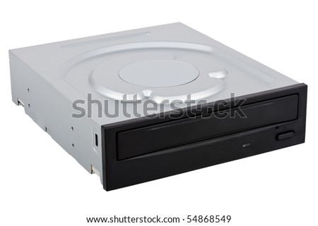 Computer hardware component: dvd-rom drive isolated - stock photo