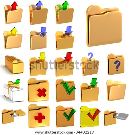 Computer icon - stock photo