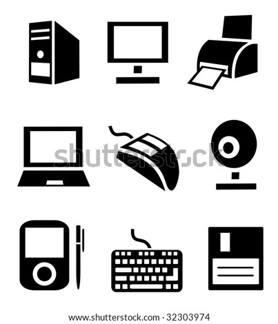 Computer icons. See vector version in my portfolio.