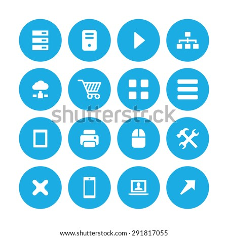 computer icons universal set for web and mobile