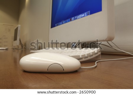 computer in an office - stock photo