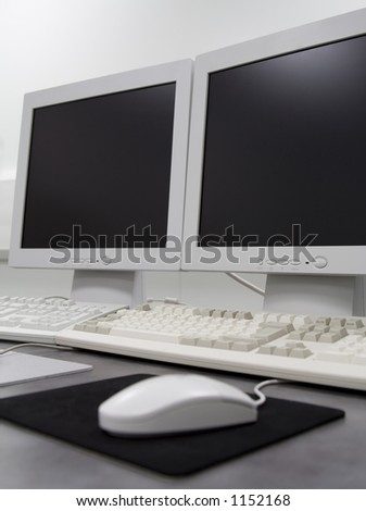 Computer in the lab - stock photo